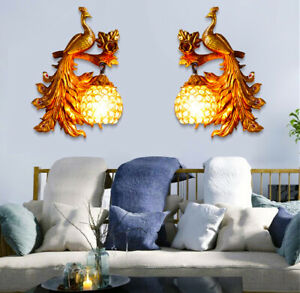 Home Wall Lamps Decoration Living Room Restaurant Bedroom Peacock Design Night