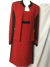 st john dress suit Size 4,red And Black