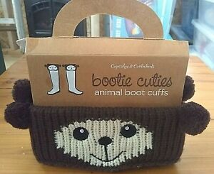 NEW  Bear-BearBootie Cuties Animal Boot Cuffs by Cupcakes and Cartwheels