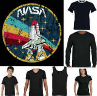 NASA T-SHIRT Mens Logo Space Agency Distressed Astronaut Space Cosmos Top