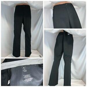 "REI Hiking Pants Sz 16 Women Black Poly Moto Pockets Zip Ankle 32"" In YGI J1-44"
