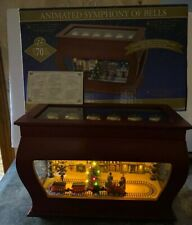 New Rare Mr Christmas  Music Box Animated Symphony of Bells 70Song Village Train