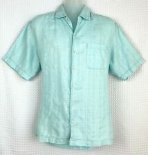 CARIBBEAN Roundtree /& Yorke Martinique Collection 100/% Linen Button Front Shirt