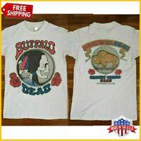 FREESHIP RARE!! Grateful Dead T Shirt Vintage 1990 Buffalo New t-sirt USA S-6XL