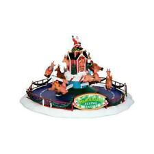 1994 Lemax Reindeer Flying School Porcelain Lighted House