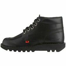 Kickers Kick Hi M Mens, boys Boots Black Leather Ankle Shoes Size 6/eur39