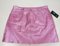 Women's Metallic Denim Skirt - Wild Fable - Pink