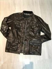 Belstaff Panther Brown Leather Jacket Size XL - 50 IT