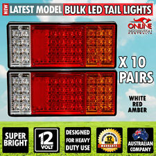 LOT 10 Pairs LED TAIL LIGHTS STOP INDICATOR 12v Truck Ute Trailer Red White Ambe