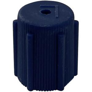 (10) A/C Compressor Valve Cap Service Port Cap R-134a Blue Low Side 8 x 1.0 mm