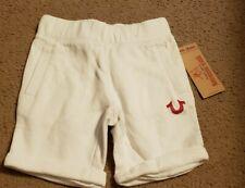 NWT True Religion Girls White Sweat Shorts, Size 6