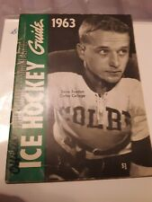 Official Ice Hockey Guide 1963 Collegiate used