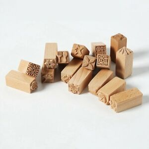 Hand Carved Wooden Stamp For Printing DIY Clay Pottery Printing Block Clay Tool