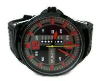 Mens Casual Watch Muniti MT1017G.02 Black Band, Date Dial 3ATM Water Resistant