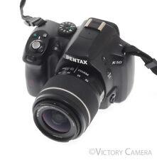 Pentax K-50 K50 16.3 DSLR Camera Pentax DAL 18-55mm AL WR Lens 8300 Shots