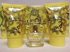 YELLOW DIAMOND By Versace 3PC MINI GIFT SET PERFUME + LOTION + S/ GEL NEW IN BOX