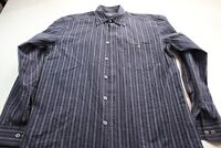 Zanella Made In Italy Striped Textured LONG SLEEVE SHIRT M 15.5 x 35/36