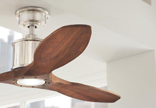 "Quiet Wood Blades 52"" Sleek LED CEILING FAN + REMOTE, Fancy Modern Elegant Light"