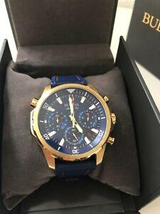 Bulova Marine Star 97B168 Herren Chronograph Luxus Herrenuhr
