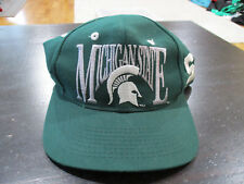 VINTAGE The Game Michigan State Spartans Snap Back Hat Cap Green Football 90s
