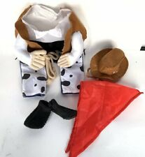 Cowboy Cowgirl Small Dog Costume Pet Dress Up Clothes 5 Piece Set Hat Booties