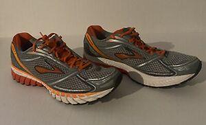 Brooks Ghost 6, Silver/Black/Orange Men's Running Shoes 1101441 D 820 READ