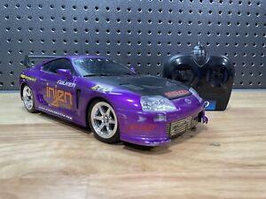 Nikko 1/16 Toyota Supra Purple Street Mayhem Tuner RC Car w/ Remote See Pictures