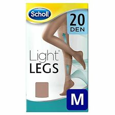 Scholl Light Legs Medium Womens Compression Tights Circulation 20 Den Nude - M