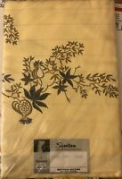 Vintage Simtex By Stevens Tablecloth New Old Stock 52x 52 Fantasy Yellow