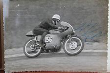 27540 courses motocyclistes Photo Autographe R. T. vernis UK Angleterre 1961 Vélo Photo