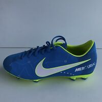 Nike Mercurial Victory Vi Njr Fg Jr 921488-400 Football Shoes Blue Size UK 5.5