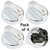 BEKO Genuine Oven Cooker Chrome Temperature Control Knob Switch Knobs Silver x 4