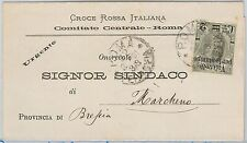 ITALIA REGNO storia postale: BUSTA della CROCE ROSSA ITALIANA Red Cross 1891