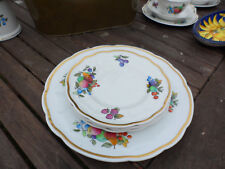 ANTIQUE  SANDWICH &4 TEA PLATES SET HAND PAINTED, CROWN STAFFORDSHIRE.GOOD