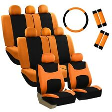 3 Row Light Breezy Flat Cloth Seat Covers Combo Set 8 Seaters Universal Fit