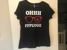 Womens A Christmas Story Oh Fudge Holiday Graphic Tee T-Shirt Size Xl