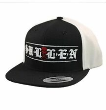 Sullen Clothing Town Ink Skater Punk Tattoo Paint Black White Snapback Hat Cap
