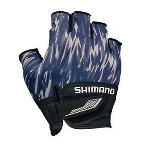 Shimano GL-022S Gloves 3D Casting 5 Fingerless Navy Camo Size XL 669759