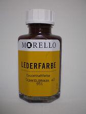 (12,48€/100ml) Lederfarbe Morello Einziehhaftfarbe zum färben DUNKELBRAUN 40 ml