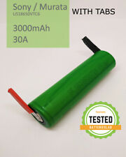 Li-Ion Rechargeable Battery SONY MURATA US18650 VTC6 3000mAh 30A - with TABS