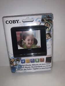 COBY - DIGITAL PHOTO ALBUM WITH ALARM CLOCK - DP356