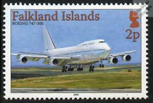 BOEING 747-300 Jumbo Jet Aircraft Airplane Mint Stamp (Falkland Islands)
