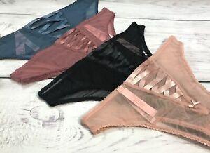 VICTORIA'S SECRET DREAM ANGELS Brazilian Panty Mesh Tulle Front Lace-Up