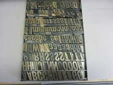 Letterpress Wood Type 84 Point Slanted Capitols, Lower Case Letters & Numerals