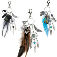 Dream Catcher Keyring Bag Charm Fashion Boho Jewelry Feather Keychain G9I6