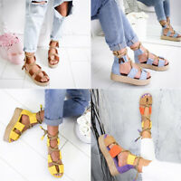 Women Hemp rope Toe Weaving Sandal Buckle Strap Open Toe Fish Mouth Shoes