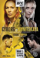 D'Impression A5-UFC 222 Cyborg Vs kunitskaya (Photo Poster Arts Martiaux Mixtes)