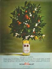 Publicité Advertising 1966  Parfum Eau Cologne Jean Marie Farina ROGER & GALLET