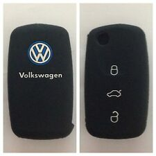 VW Volkswagen BLACK CAR KEY COVER CASE POLO GOLF PASSAT JETTA BEETLE EOS TOURAN