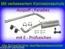 Abgasanlage Auspuff Endtopf VW Polo IV 1.4 TDi / 51KW - 59KW (Typ 9N) + Kit